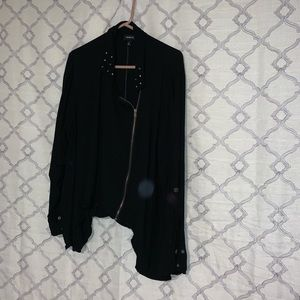 Black Studded Zip Up Jacket